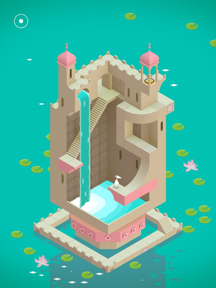 Beautiful image from Monument Valley (game)