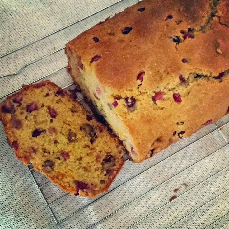 Pomegranate and walnut loaf by Love the Taste