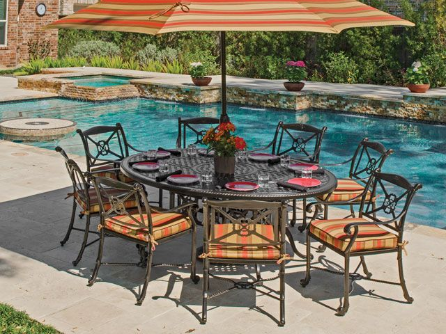 gensun napoli cast aluminum dining set is the stuff of dreams exquisite detail brought to