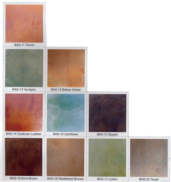 Concrete Stains  ~awesome Colors