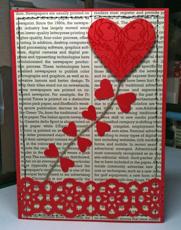 Here'a simple art work that even your children can do. Just don't forget to use unused newspaper, magazines or books otherwise your book-loving partner wouldn't like it if their favorite reading material gets torn up.