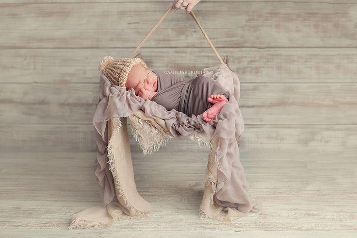 Winter mood for a sleepy baby