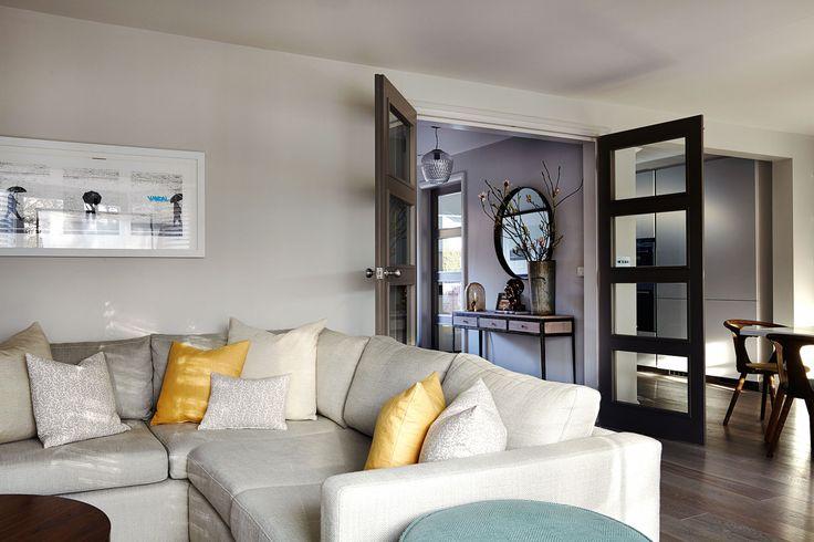 Glazed doors into reception space