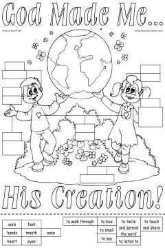 138 best images about god made me senses on pinterest for God made me special coloring page