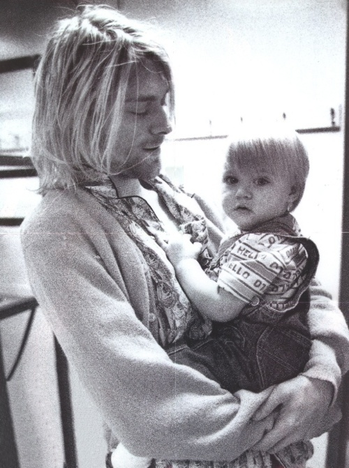Father and daughter .. I miss kurt Cobain!