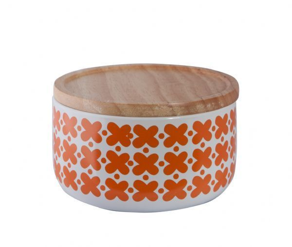 All That I Need - General Eclectic Wide Canister - Orange Flowers, $22.00 (http://www.allthatineed.com.au/products/general-eclectic-wide-canister-orange-flowers.html)