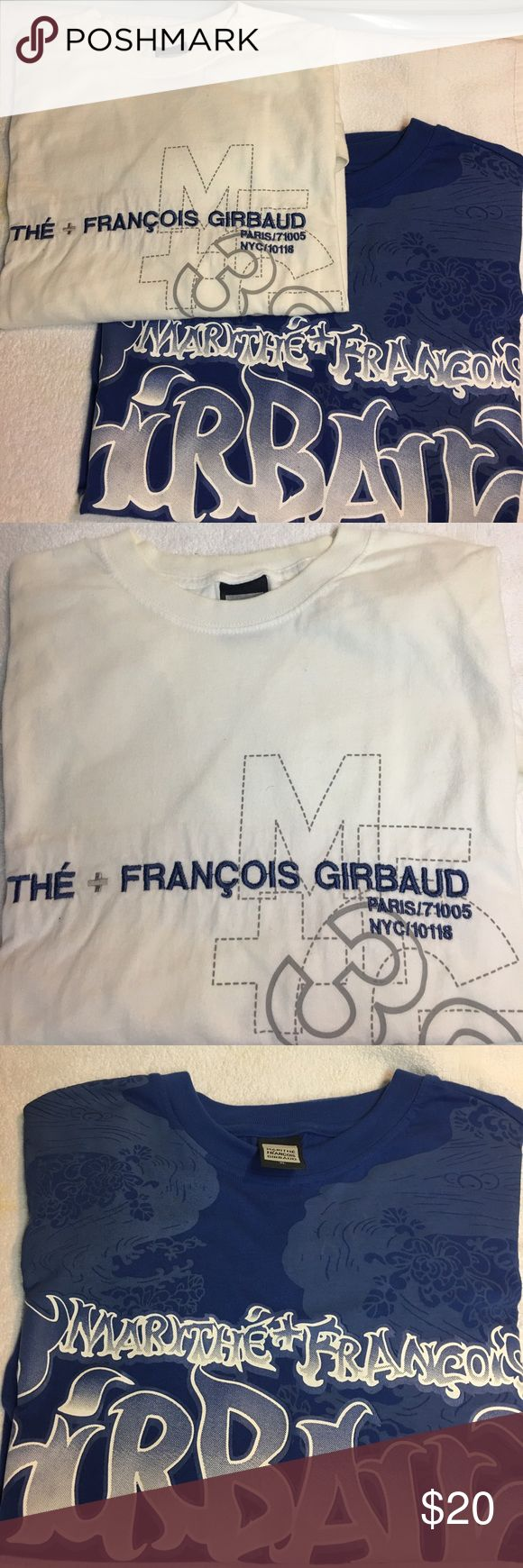 Marithe Francois Girbaud T-shirt Bundle Marithe Francois Girbaud T-shirt Bundle. Blue one is NWOT. White one is GUC. Both size XL. Machine washable. 100% Cotton. Smoke Free Home. Marithe Francois Girbaud Shirts Tees - Short Sleeve