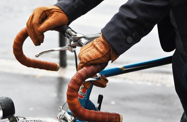 bike, gloves, men,style, Paris, brown