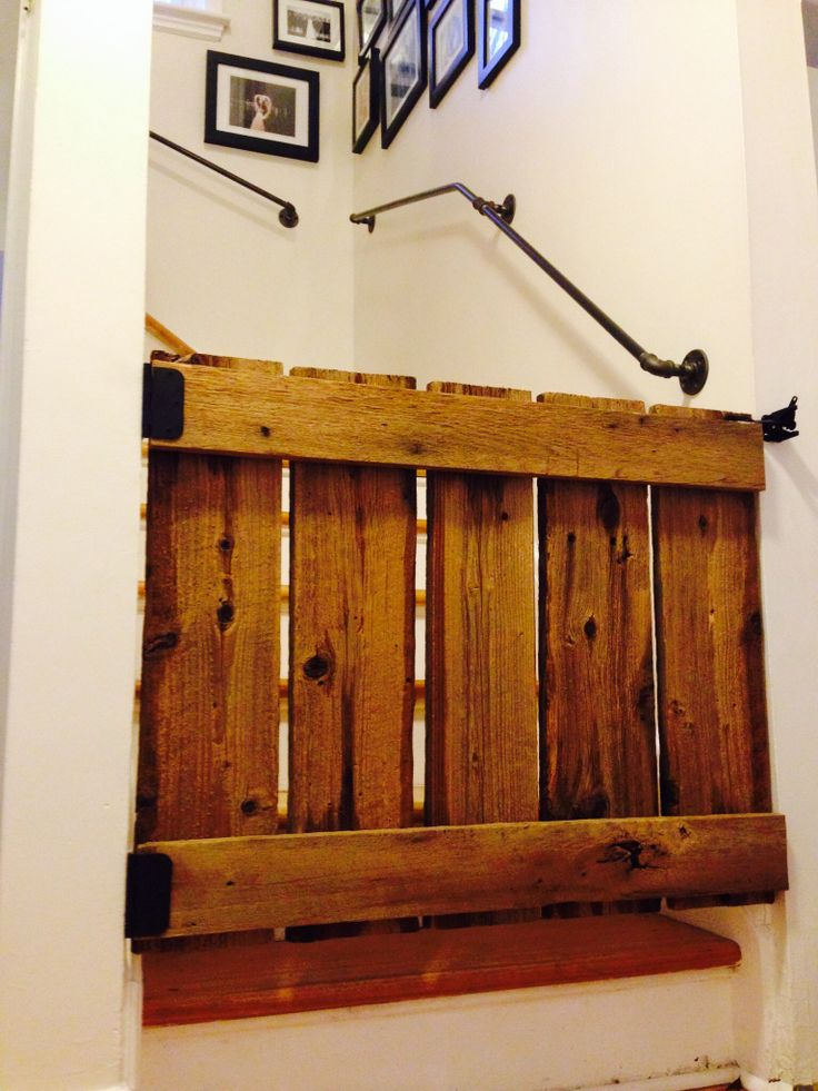 Baby gate made from recycled barn board