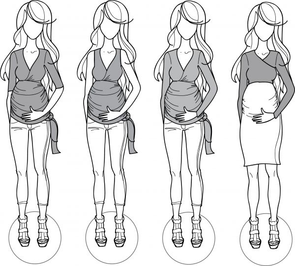a few wrapped maternity top variations