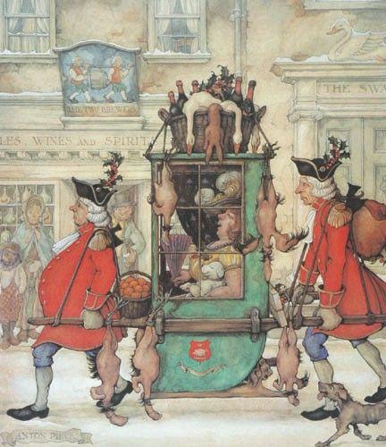 Christmas Shopping 18thC style! Anton Pieck (1895-1987)