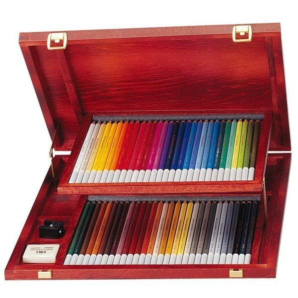Found it at Blitsy - Stabilo CarbOthello Pastel Pencil 60-Color Woodbox Set