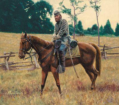 Stonewall Jackson on Little Sorrel, Mort Kunstler print