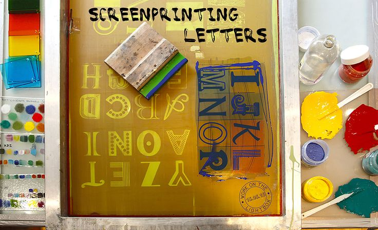 Behind the scenes at the Glass Studio. Work on the lightbox 15.05.15: Screenprinting letters