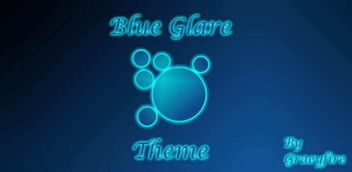 Blue Glare Theme Apex Launcher