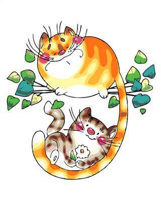 Маленькая картина по номерам Paintboy «влюбленные коты на ...