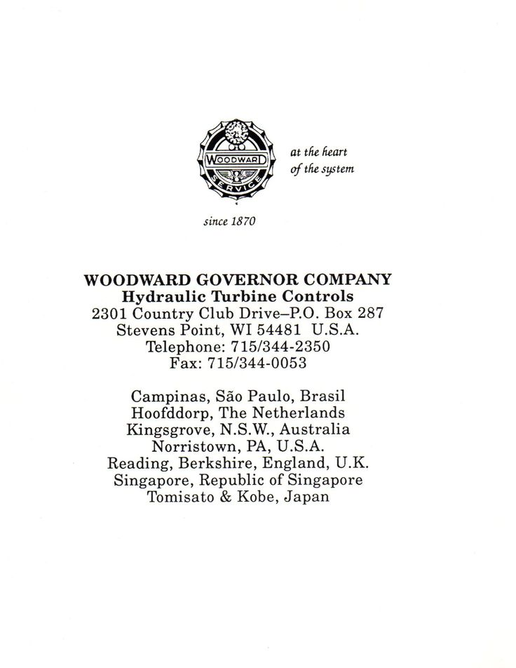 pin by bradford electric s history on small hydro electric power plant governor applications woodward governor manual 25071 woodward overspeed governor manual