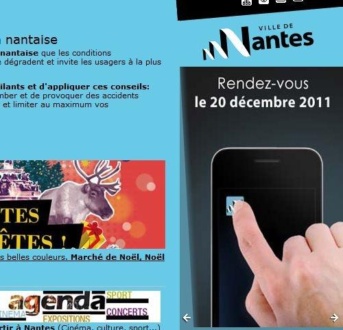 """Applications iPhone & Android """"Ville de Nantes"""" (Réalisation www.imagescreations.fr) #Nantes"""