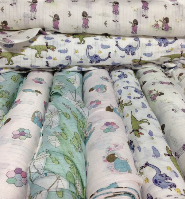New Belle & Boo muslin fabric at Spotlight in Australia and NZ