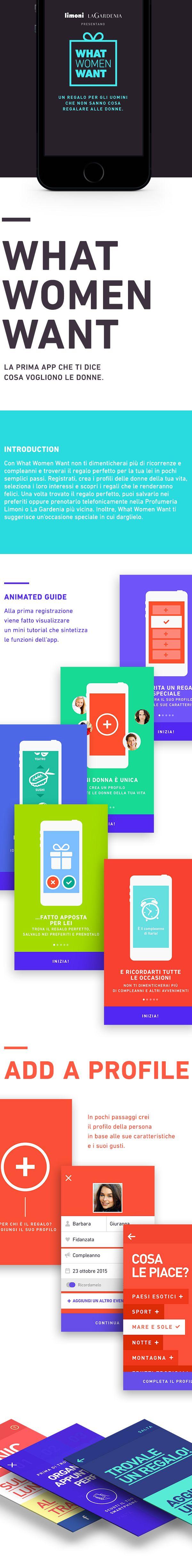 What Women Want by Limoni e La Gardenia - App on Behance