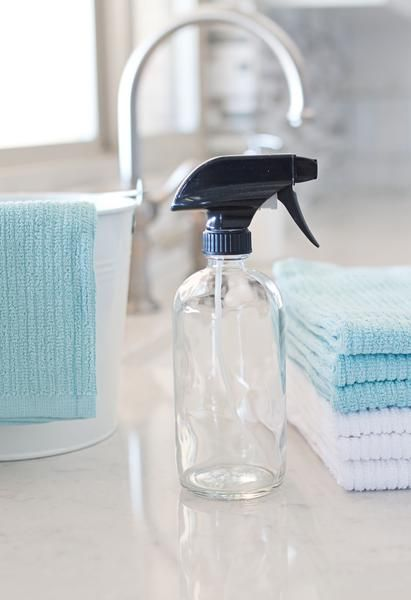 The perfect spray bottle for DIY cleaners or just to transfer your favorite cleaners to for a more simple look.  holds approximately 16 oz. of liquid black tri