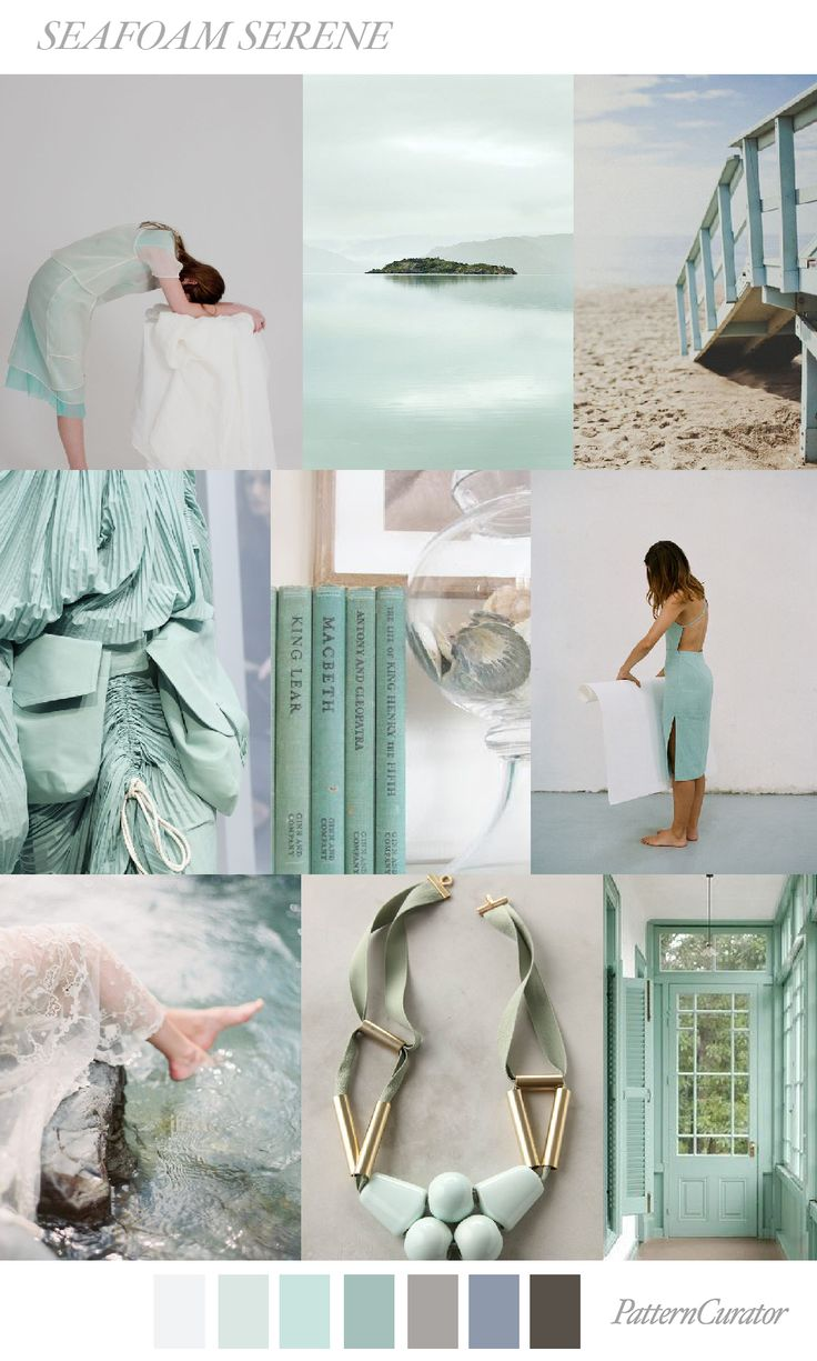 SEAFOAM SERENE by PatternCurator