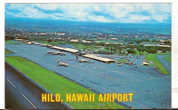 Undated Unused Postcard Hilo Hawaii Airport HI