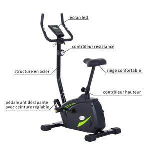 Ce vélo d'appartement fitness sera idéal pour garder la forme et la ligne ! Ses nombreuses fonctions et sa grande adaptabilité : niveau de résistance magnétique réglable jusqu'à 8,
