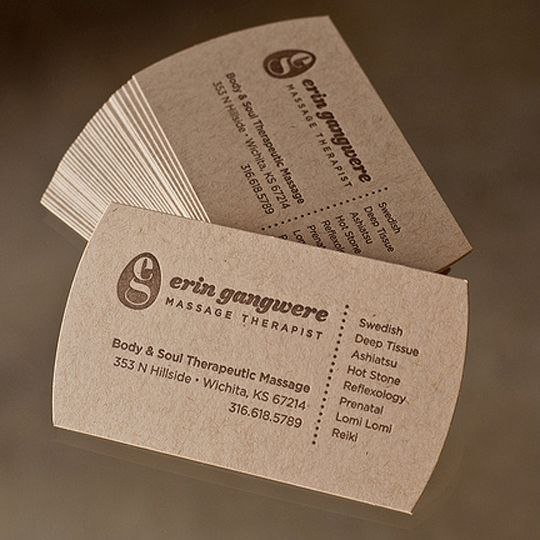 323 best business cards images on pinterest business card design post image for erin gangweres massage therapy business card reheart Gallery