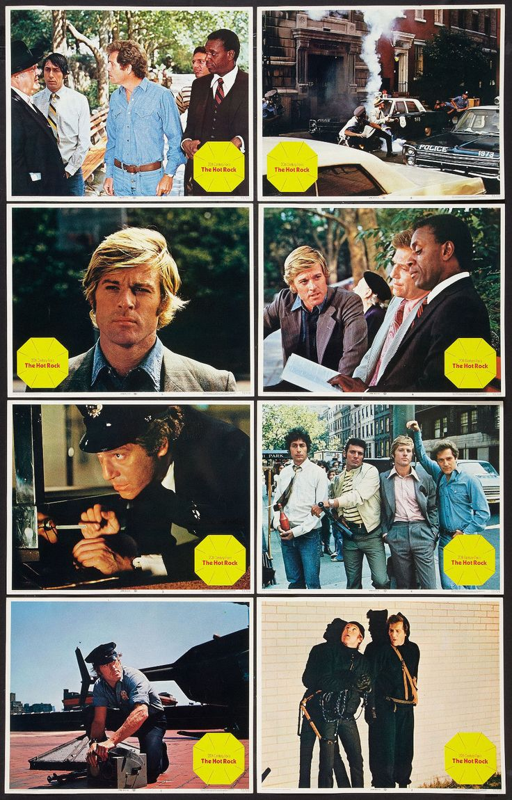 The Hot Rock, starring Robert Redford, George Segal, Ron Leibman, Paul Sand and Zero Mostel, 1972