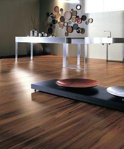 teak flooring ideal for modern kitchens