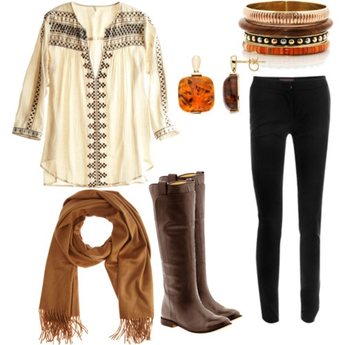 casual fall outfit- boots, scarf, drapey blouseFall Clothing, Boho Chic, Style, Bohemian Looks, Fall Outfits, Fall Looks, Fall Fashion, Cute Outfit, Dreams Closets