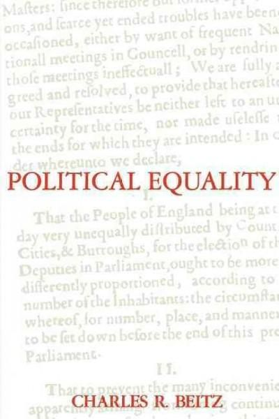 Political Equality: An Essay in Democratic Theory