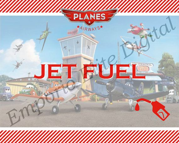 Disney Planes Jet Fuel Sign - Digital File - Printable for Disney Planes Party Theme (Instant Download) on Etsy, $3.16