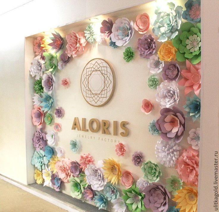 Купить Панно из бумажных цветов - свадьба, свадебный декор, украшение свадьбы, оформление свадьбы