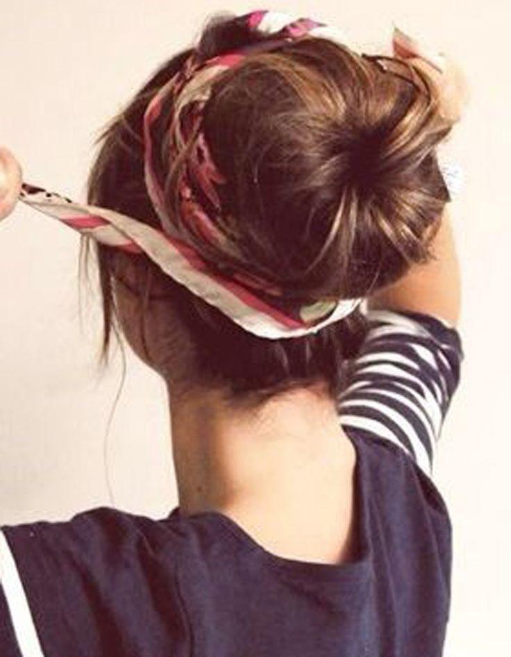 Coiffure cheveux attachés longs hiver 2015
