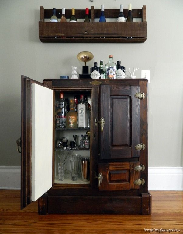16 Best Vintage Ice Box Cocktail And Wine Cabinets Images