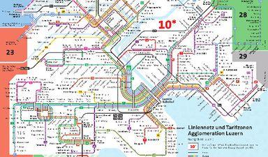 Zonen- und Netzplan :: Verkehrsbetriebe Luzern