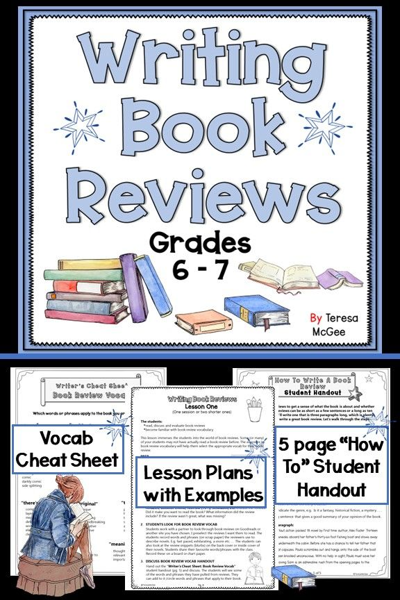 Teach Your Students How To Write Concise Appealing Book Review For Grades Six And Seven Inc Writing A Book Review Writing A Book Persuasive Writing Examples