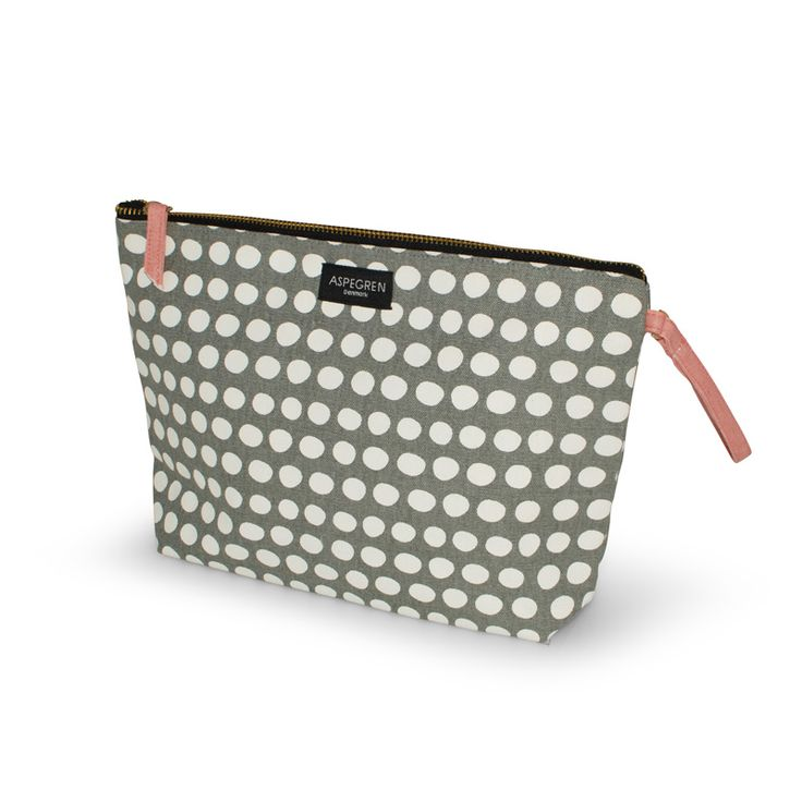 Aspegren-toiletbag-dot-warm-gray Canvas bag www.aspegren.dk