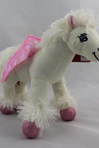 Pegas hvite hest myk Kosedyr for jente plushie leker kose dyr barn dukker - 180.00 kr - Auksjon Norge
