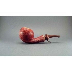Alexa Pipes AP 16-25 Olive wood apple pipe with leather-like finish