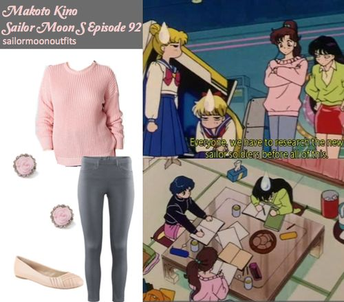 Outfit sets for the characters seen in the Sailor Moon series