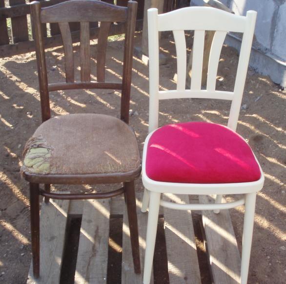 Как отремонтировать старую мебель и сделать ее интересной и уникальной можно посмотреть на примере реставрации поломанного деревянного стула