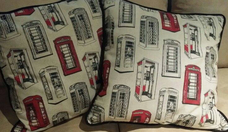 Telephone Booth Design By Heart Designs Cushions on Sale by Heart Designs Heartdesigns1@gmail.com