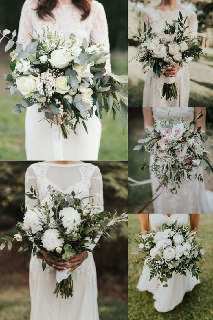 20 Elegant White and Greenery Wedding Bouquets in 2020