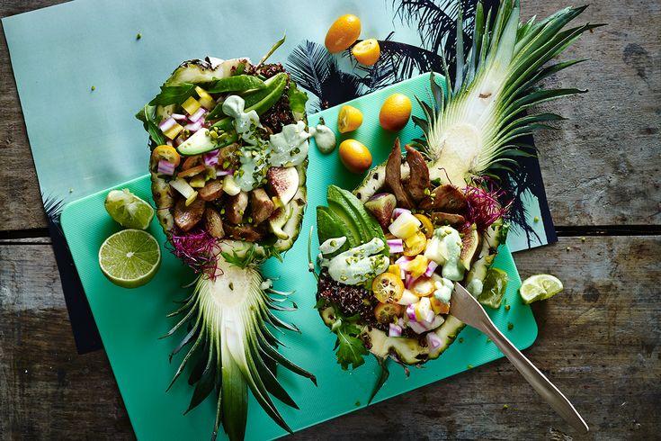 Tropisk sallad med kyckling, avokado och quinoa | Iform.se