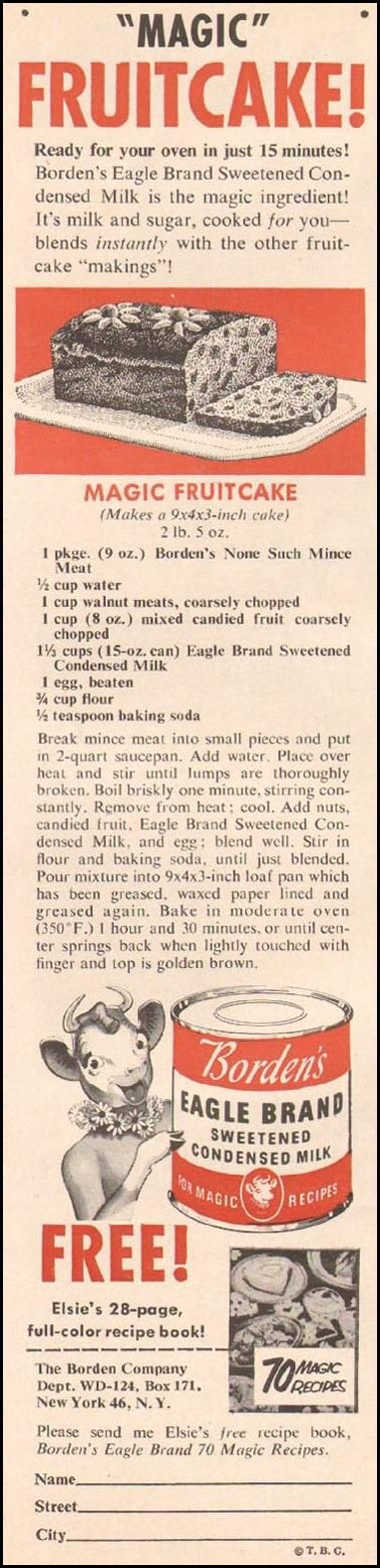 BORDEN'S EAGLE BRAND SWEETENED CONDENSED MILK WOMAN'S DAY 12/01/1955 p. 106