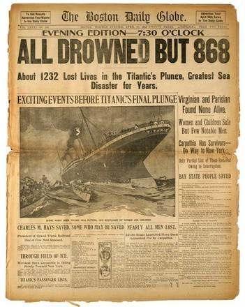 The Titanic.. / 100 years ago.
