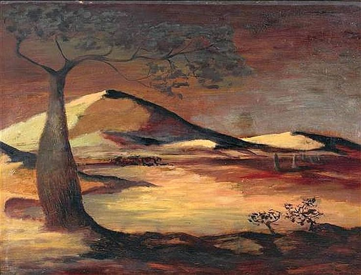 Landscape in Brown and Yellow (1953) George Russell Drysdale (1912-81) Australia